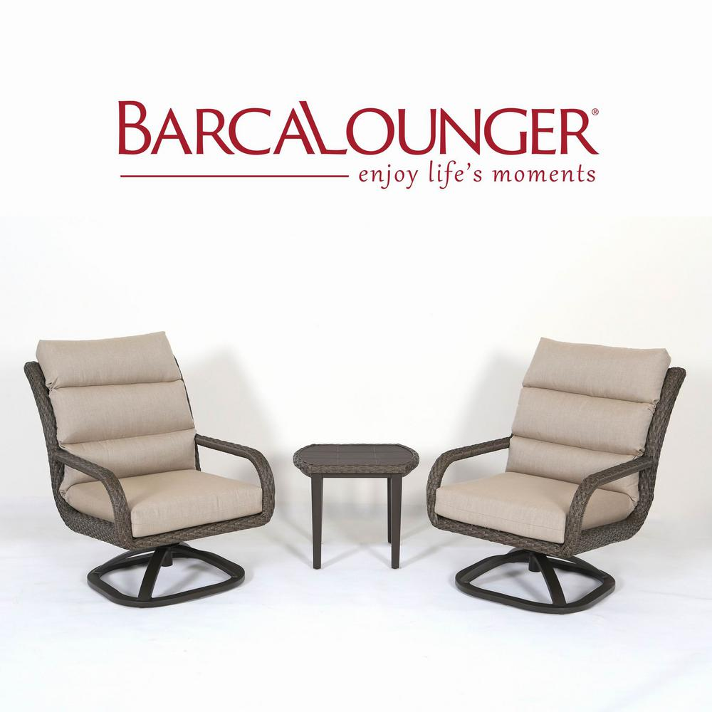 Barcalounger Amherst 3 Piece Aluminum Patio Conversation