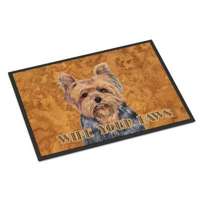 18 in. x 27 in. Indoor/Outdoor Yorkie Door Mat