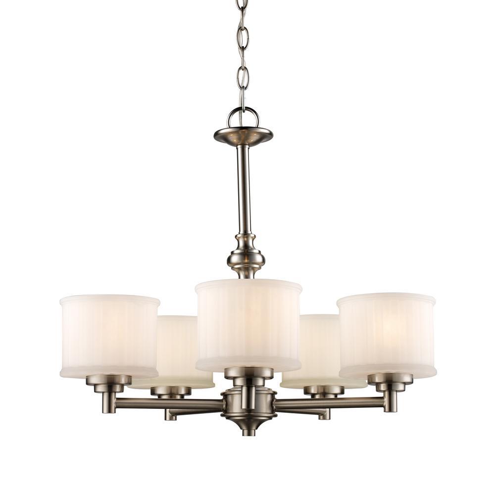 Bel air lighting cahill 5 light brushed nickel chandelier 70728 bn bel air lighting cahill 5 light brushed nickel chandelier aloadofball Image collections