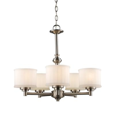 Cahill 5-Light Brushed Nickel Chandelier