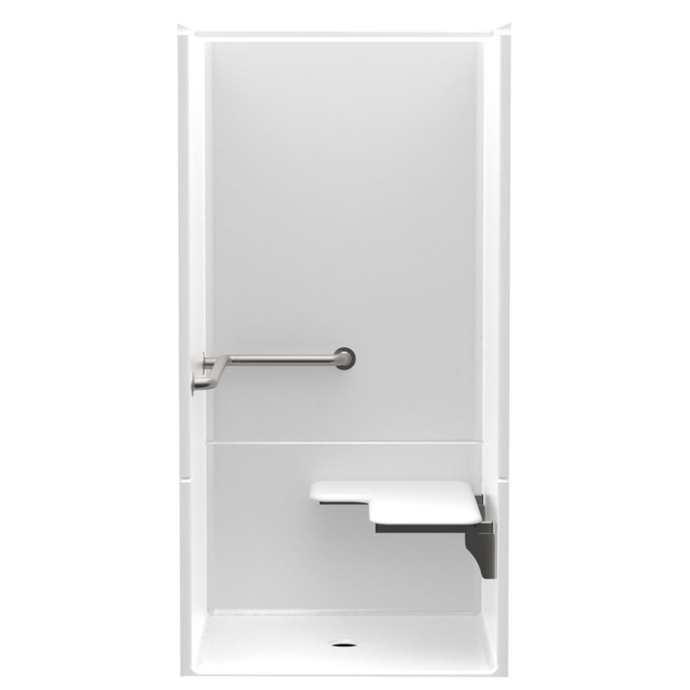 Accessible Smooth Wall AcrylX 36 in. x 36 in. x 75