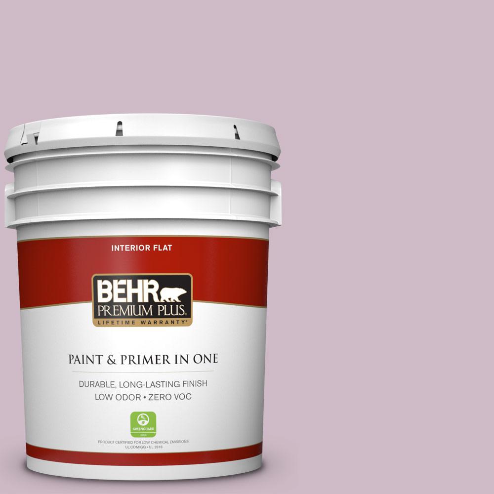 BEHR Premium Plus 5-gal. #S110-3 Queen's Violet Flat Interior Paint