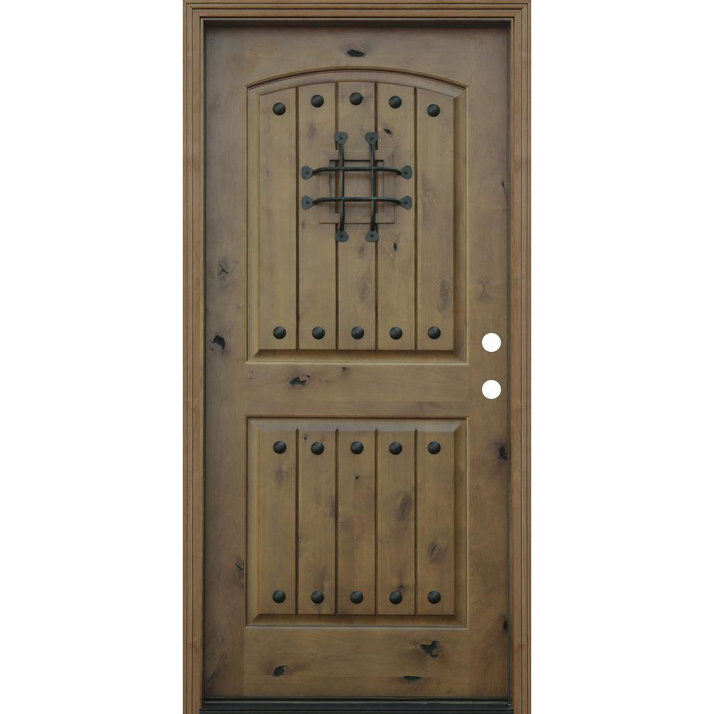 Exterior Doors Home Depot: Pacific Entries 36 In. X 80 In. Rustic Arched 2-Panel V