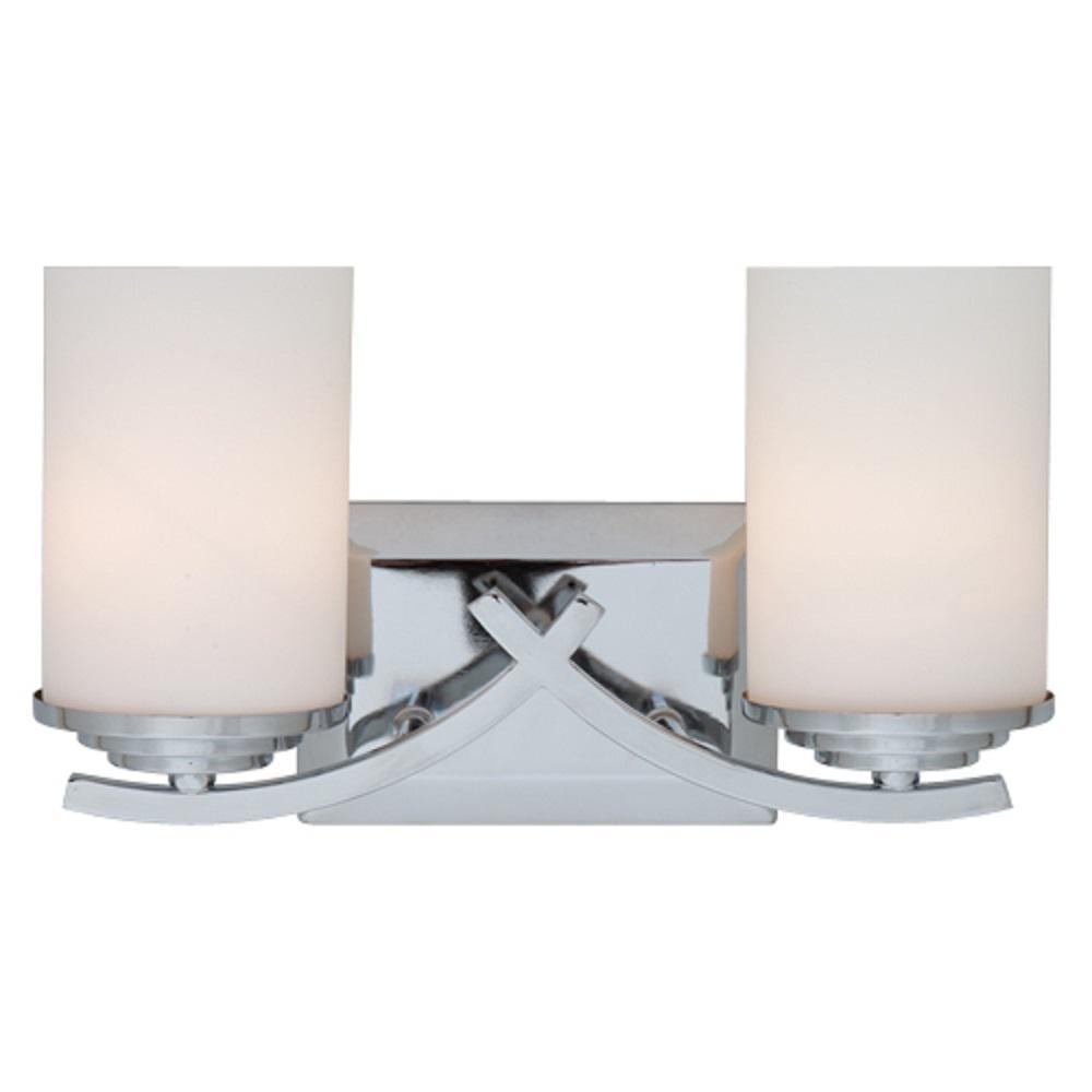 Brina 2-Light Chrome Bath Vanity Lighting