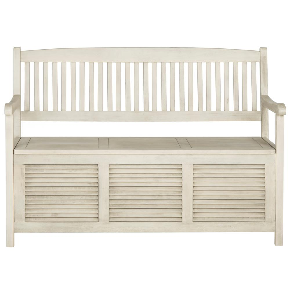 Awesome Safavieh Brisbane 2 Person Distressed White Wood Outdoor Bench Theyellowbook Wood Chair Design Ideas Theyellowbookinfo