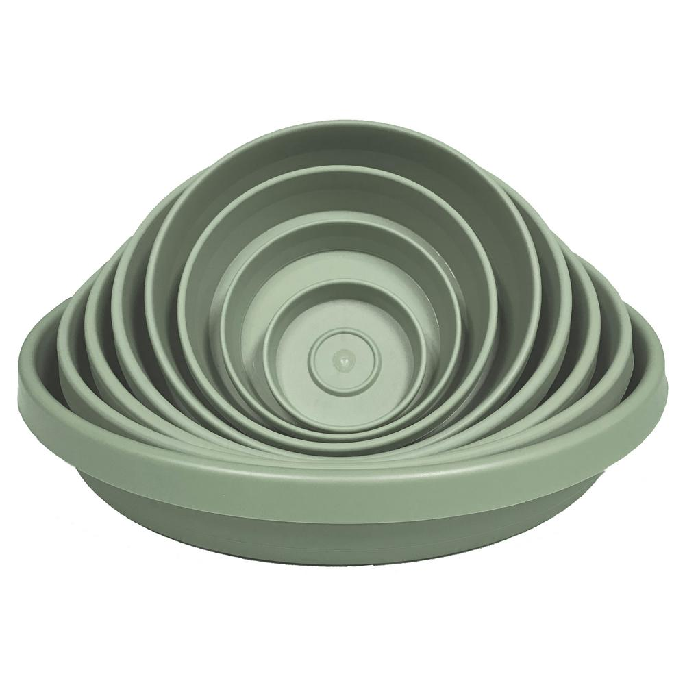15 in x 2.75 Living Green Terra Plastic Plant Saucer Tray
