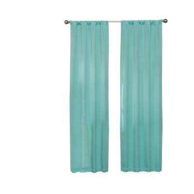 Darrell Blackout Window Curtain Panel in Mint - 37 in. W x 63 in. L