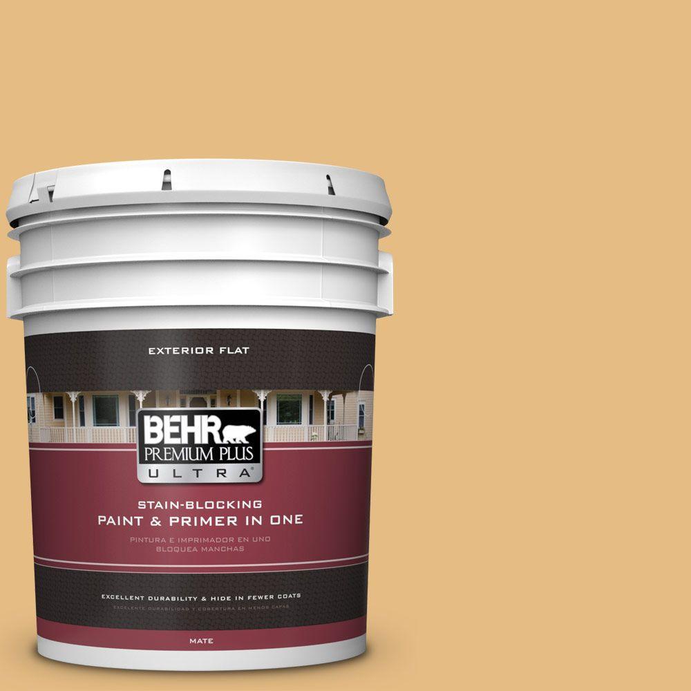 BEHR Premium Plus Ultra 5-gal. #320D-4 Arizona Tan Flat Exterior Paint