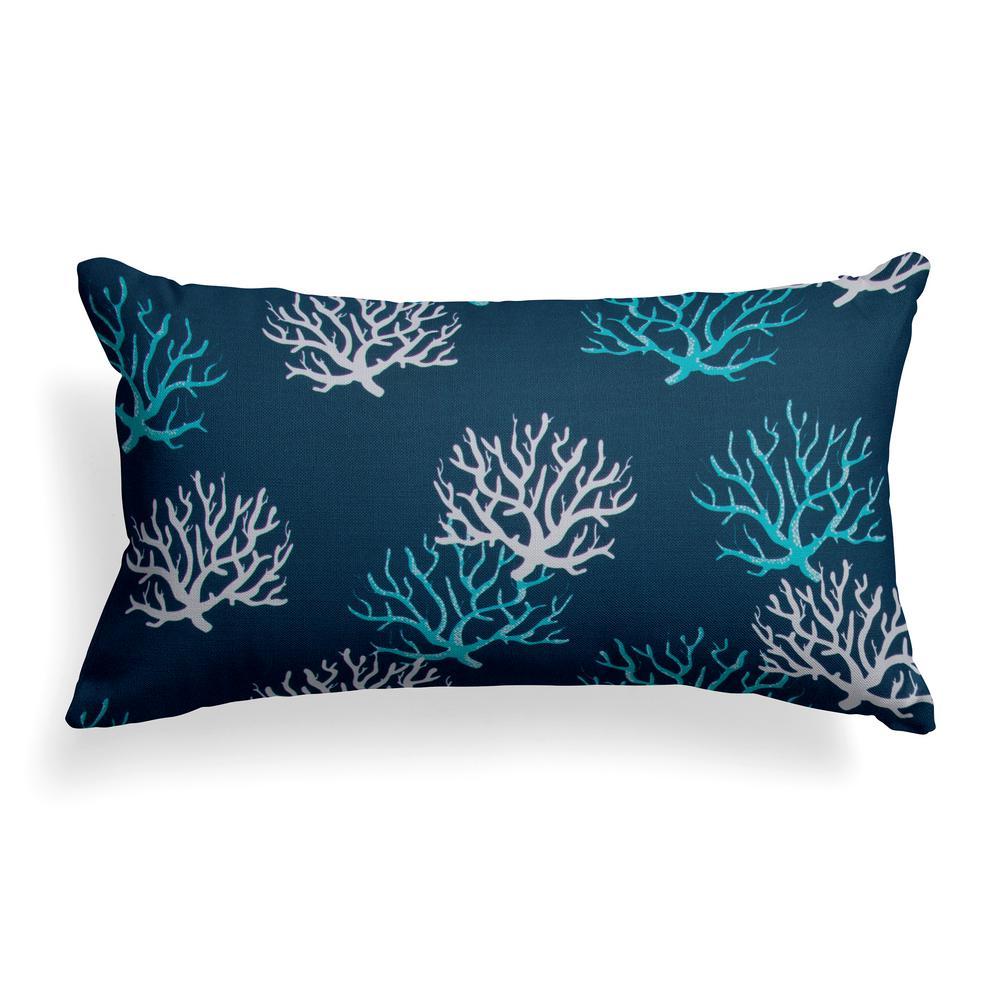 Grouchy Goose Reef Royal Lumbar Outdoor Throw Pillow 01303 The