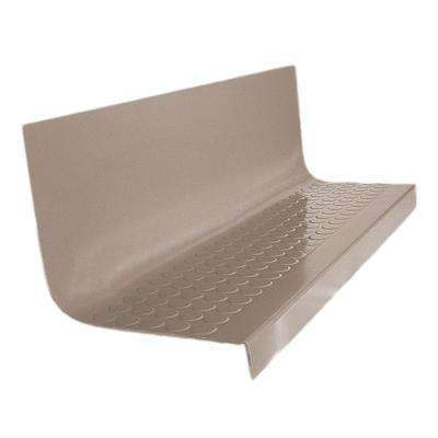 Vantage Circular Profile Fawn 20.4 in. x 60 in. Rubber Square Nose Stair Tread
