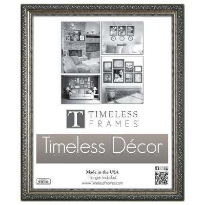 Carrington 1-Opening 16 in. x 20 in. Pewter Picture Frame