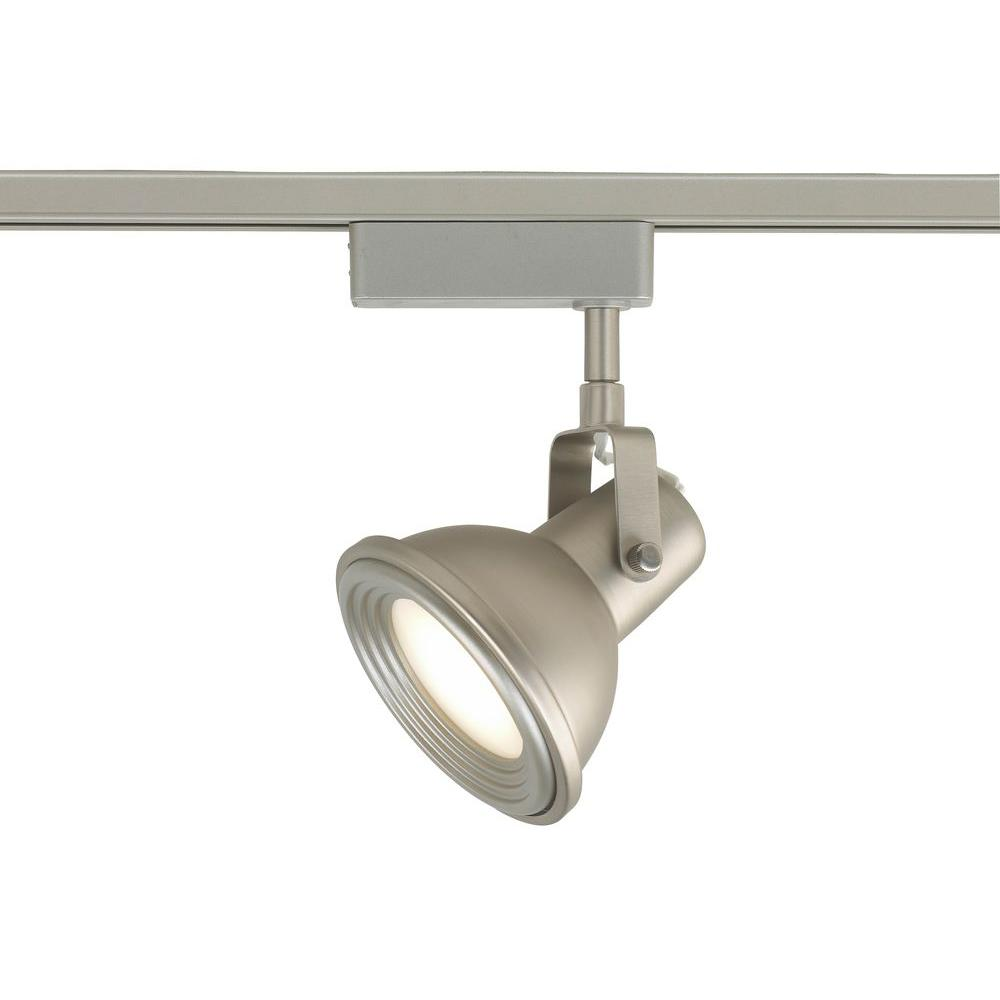 Commercial Electric Led Brushed Nickel Restoration Style Linear Track Lighting Head