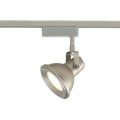 LED Brushed Nickel Restoration Style Linear Track Lighting Head
