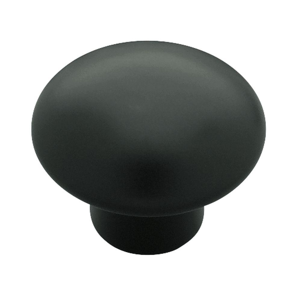 Liberty 1-3/8 in. Black Ceramic Round Cabinet Knob-PN0120H-BL-C ...
