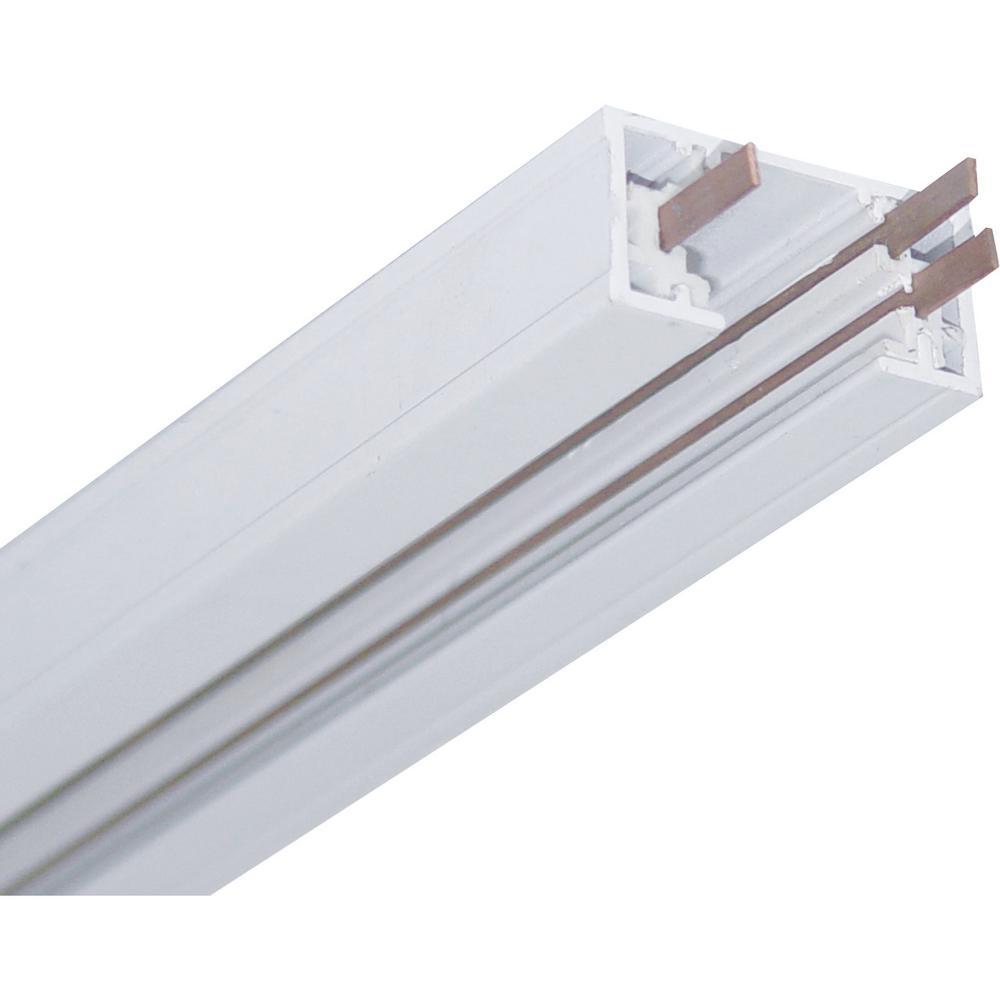 6 ft. White Linear Track Lighting Section / 1-Circuit 1-Neutral 120V Track System