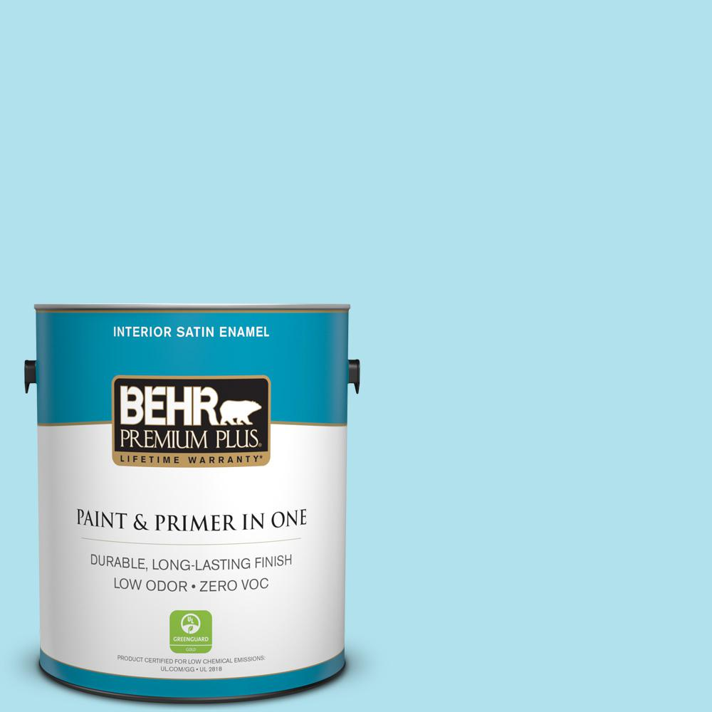 1-gal. #P480-2 Crystal Falls Satin Enamel Interior Paint