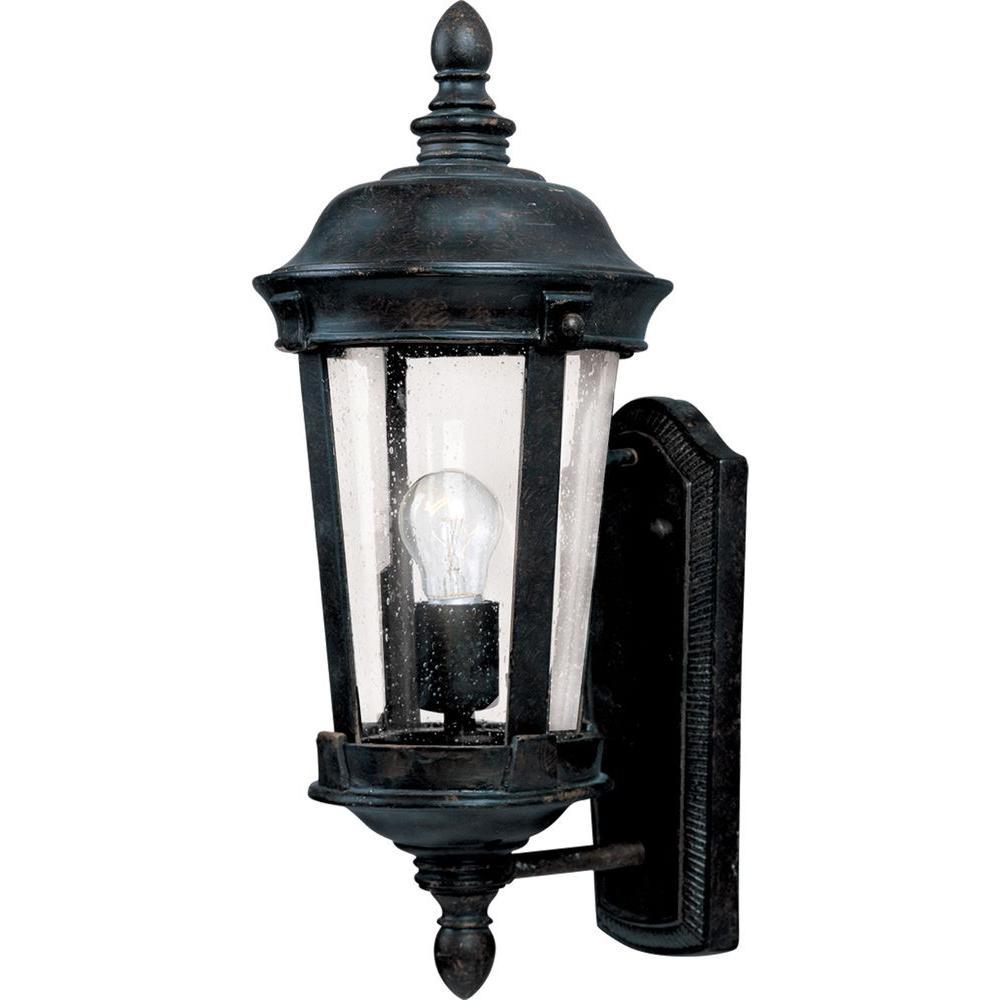 Maxim Lighting Dover Dc 1 Light Bronze Outdoor Wall Lantern Sconce