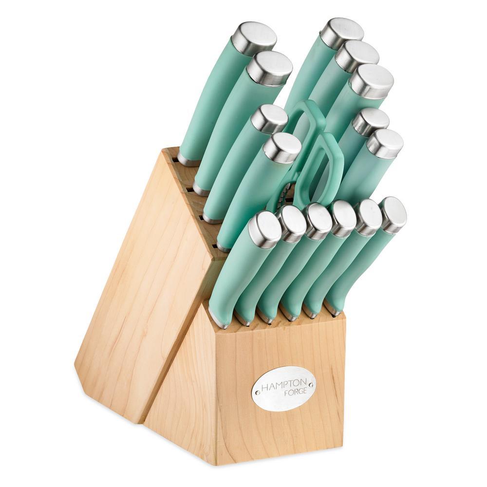 Epicure Pistachio 17-Piece Cutlery Block Set