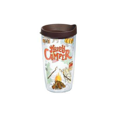Happy Camper 16 oz. Double Walled Insulated Tumbler with Travel Lid