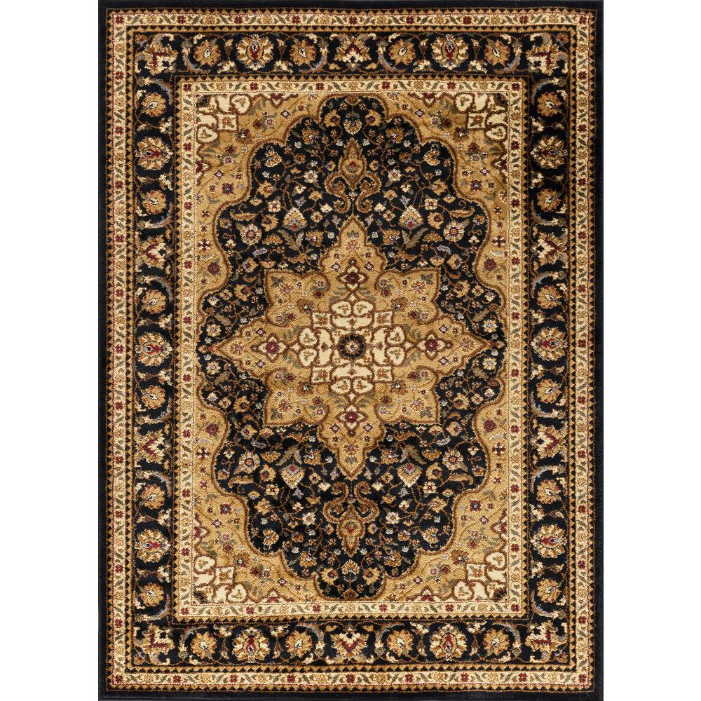 Tayse Rugs Elegance Black 9 Ft 3 In X 12 Ft 6 In