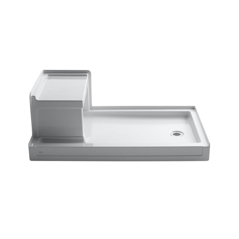 KOHLER Tresham 60 in. x 36 in. Single Threshold Shower Base in White ...
