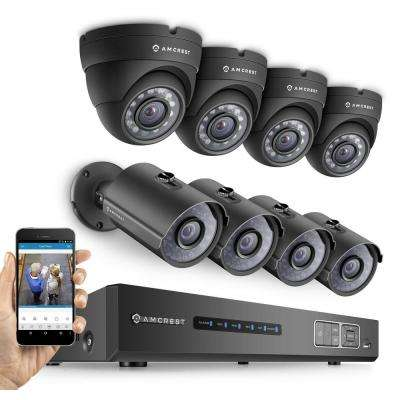 ProHD 720P 8CH Security System - Eight 1.0-MP, IP67 Bullet and Dome Cameras, 2TB, Night Vision
