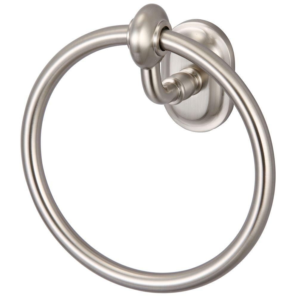 Glass Series Towel Ring in Brushed Nickel