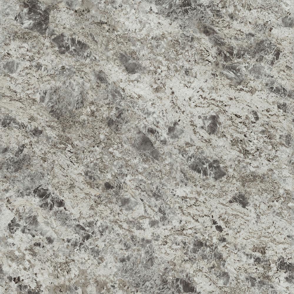 5 in. x 7 in. Laminate Sample in 180fx Silver Flower Granite with Artisan Finish