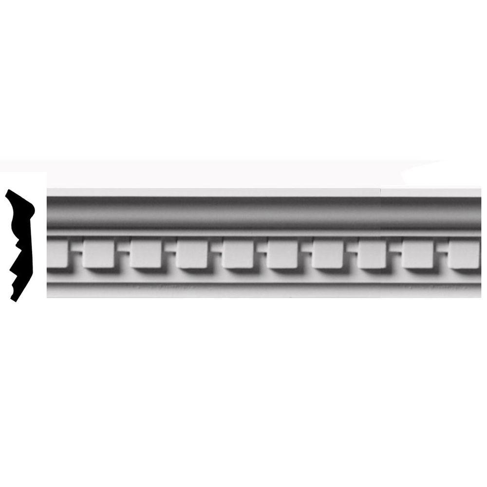 1-7/8 in. x 2-3/4 in. x 96 in. Polyurethane Dentil Crown