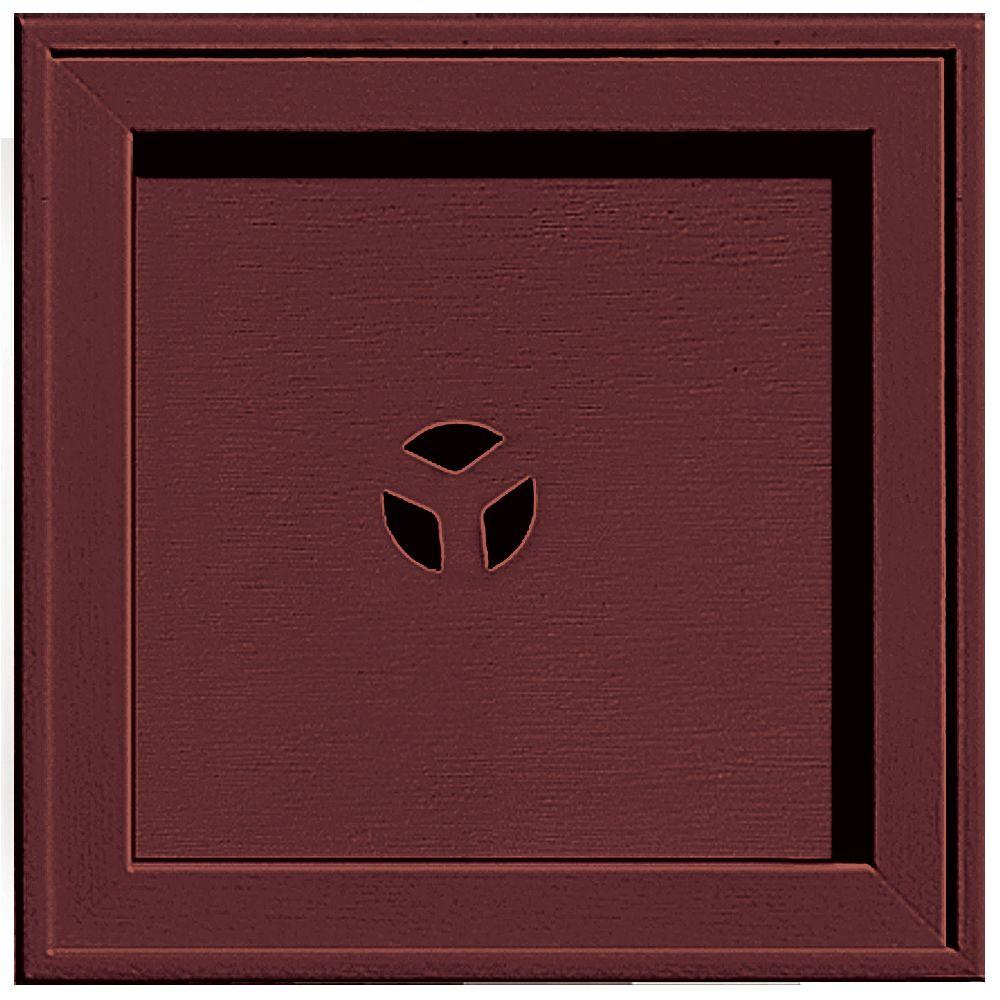 7.75 in. x 7.75 in. #078 Wineberry Recessed Square Mounting Block