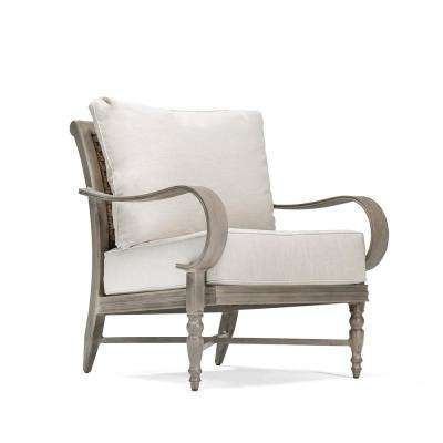 Saylor Wicker Outdoor Lounge Chair with Outdura Remy Sand Cushion