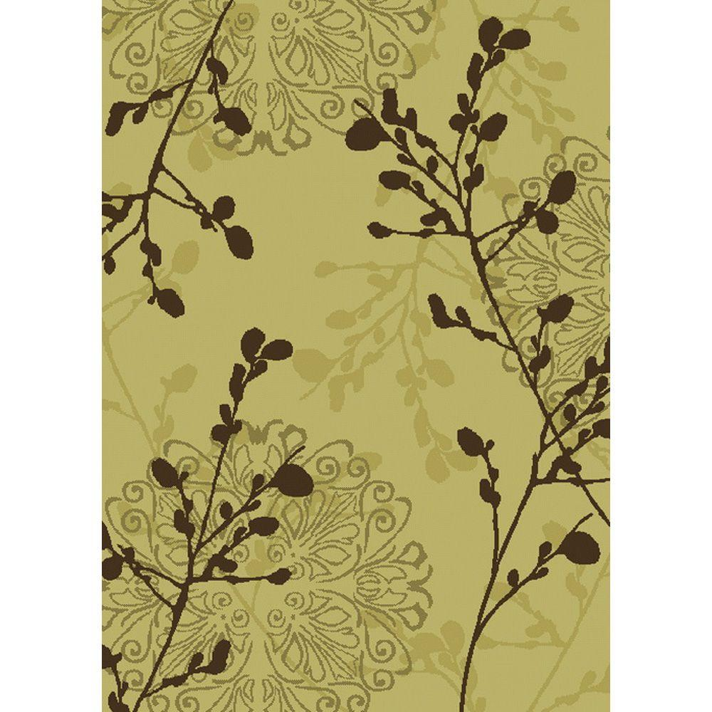 null Legacy Dappled Ivory 6 ft. 7 in. x 9 ft. 6 in. Area Rug