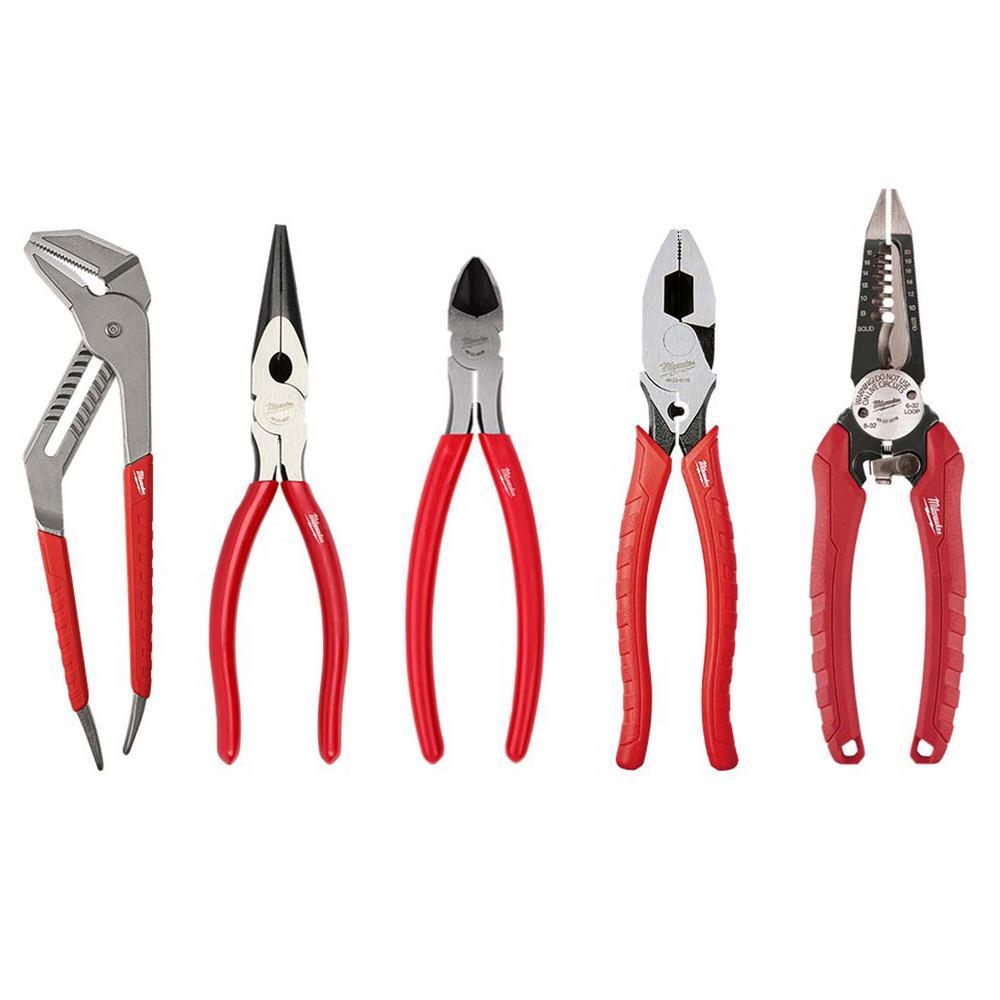 Milwaukee Electrician's Pliers Hand Tool Set (5-Piece)