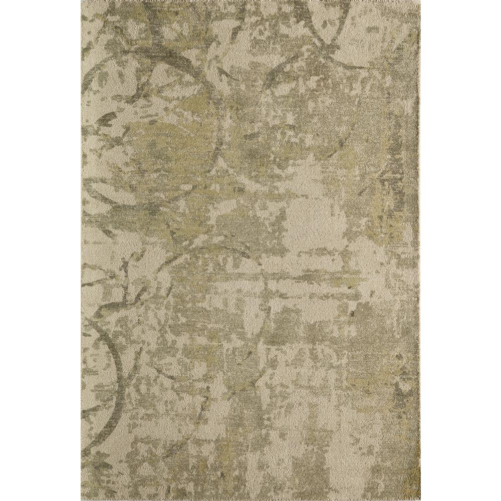 Illusions Olive Green 3 ft. 6 in. x 5 ft. 6