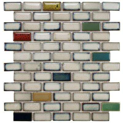 Essence Subway Cascade 11-7/8 in. x 12 in. x 9 mm Porcelain Mosaic Tile