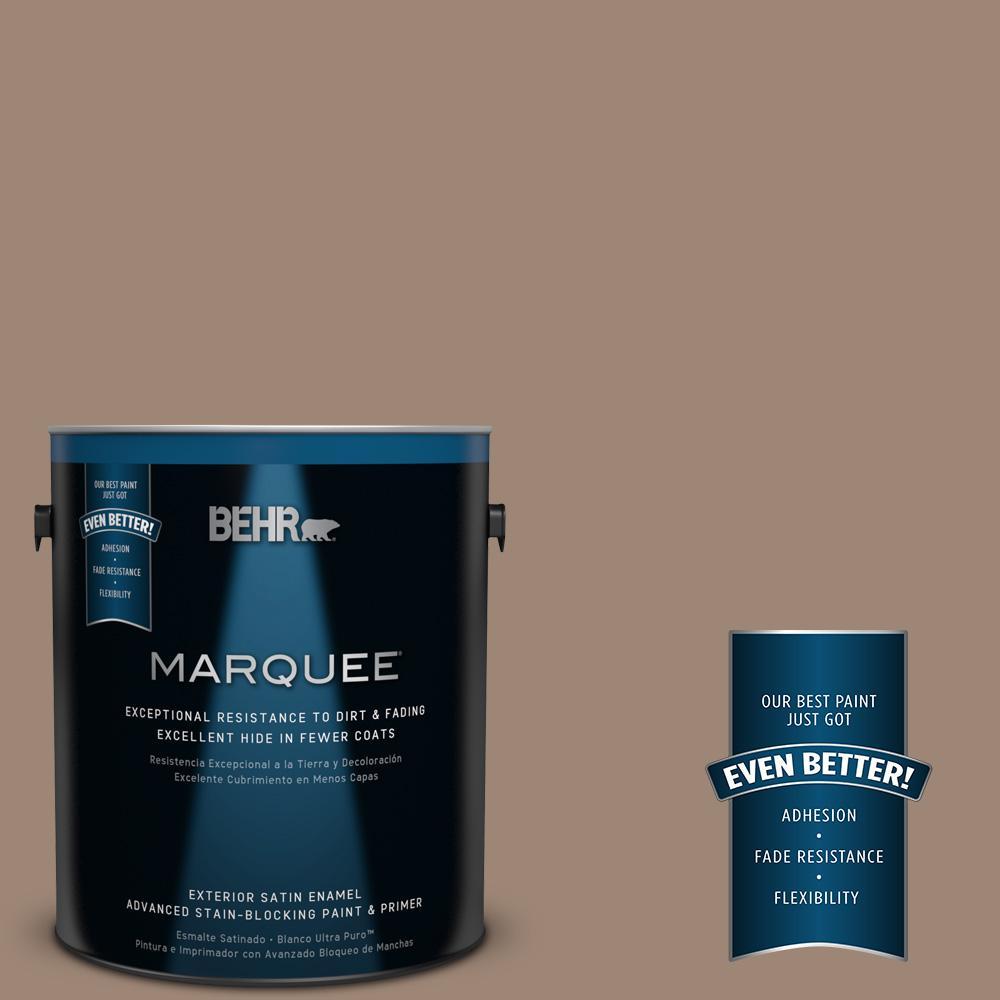 BEHR MARQUEE 1-gal. #PPU5-16 Earthnut Satin Enamel Exterior Paint