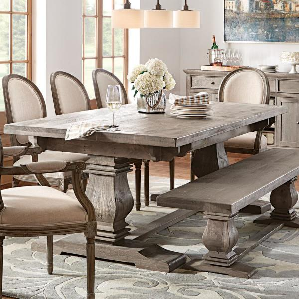 Home Decorators Collection Aldridge Washed Wood Dining Bench Nb 046ag The Home Depot