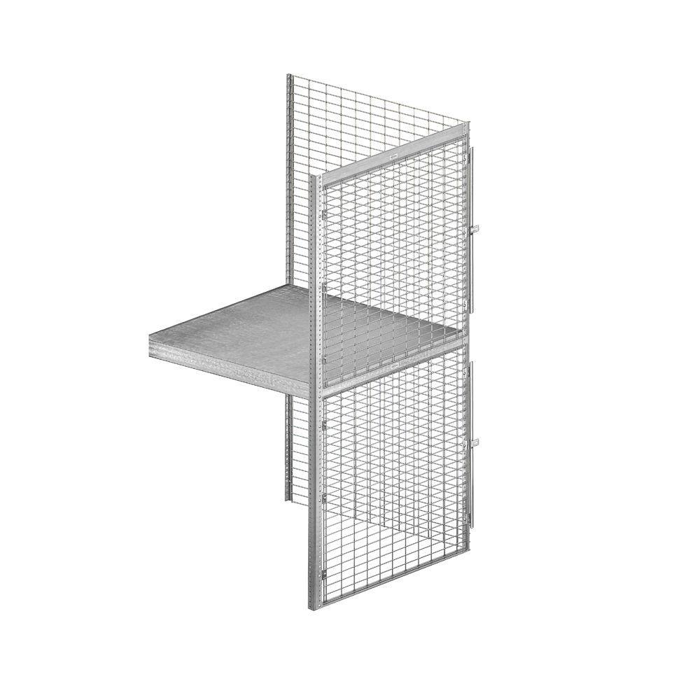 8200 Series 36 in. W x 90 in. H x 36 in. D 2-Tier Bulk Storage Locker with Add-On in Aluminum