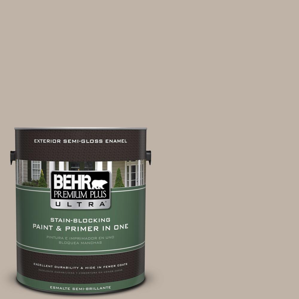 BEHR Premium Plus Ultra 1-gal. #N220-3 Smokestack Semi-Gloss Enamel Exterior Paint