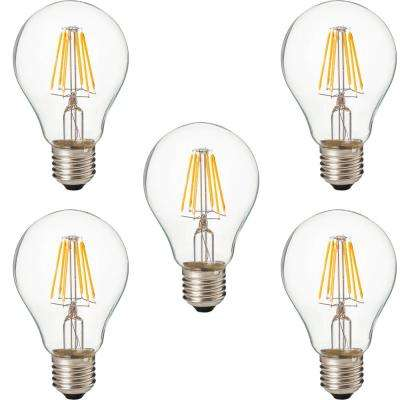 100-Watt Equivalent E26 A21 Dimmable Replacement LED Light Bulb, Warm White (Set of 5)
