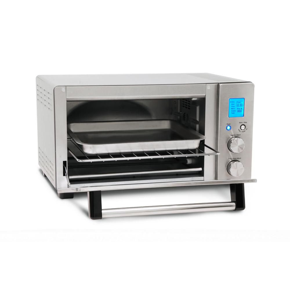 6 Slice Brushed Stainless Steel Programmable Convection Toaster Oven