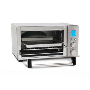 6 Slice Brushed Stainless Steel Programmable Convection Toaster Oven by