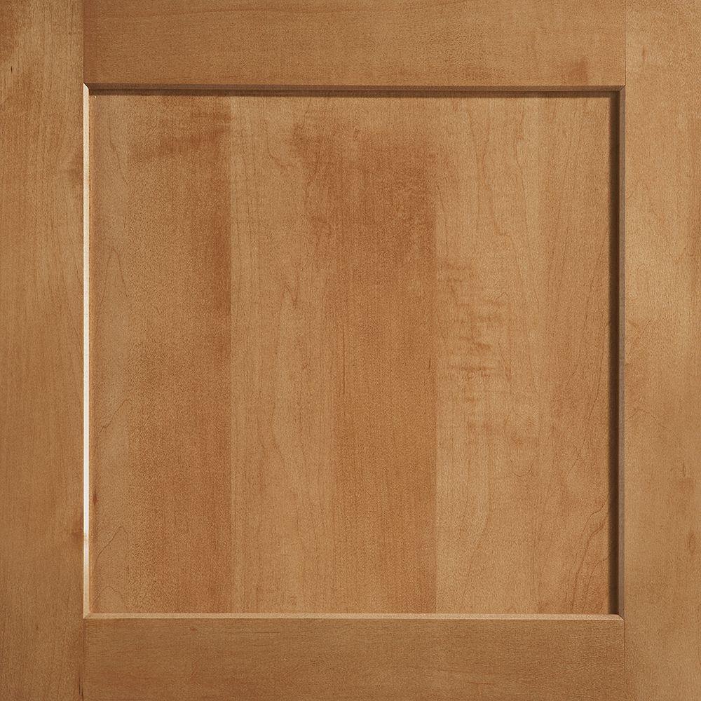 American Woodmark 14-9/16x14-1/2 in. Cabinet Door Sample in Townsend Maple Spice