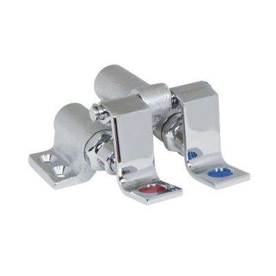 Commercial 1/2 in. Brass MPT Floor Mounted Self-Closing Double Pedal Valve