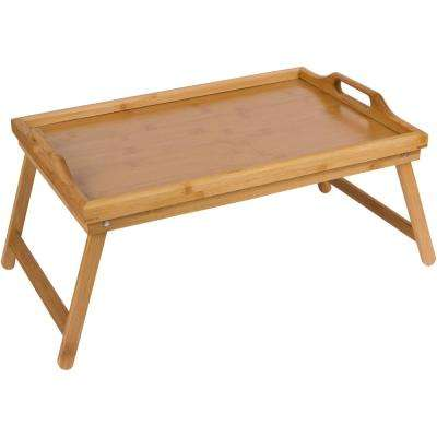 20 in. Bamboo Folding Bed Tray and Laptop Tray with Handles