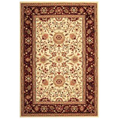 Lyndhurst Ivory/Red 8 ft. 11 in. x 12 ft. Area Rug