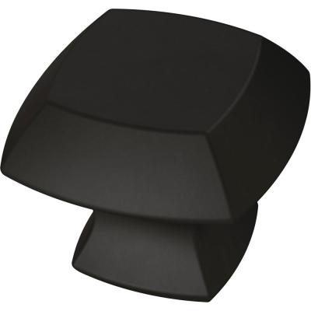 Mandara 1-1/4 in. (32mm) Matte Black Cabinet Knob