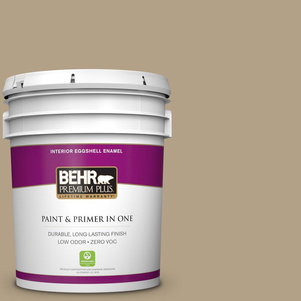 BEHR Premium Plus 5-gal. #ECC-26-3 Cactus Hill Zero VOC Eggshell Enamel Interior Paint