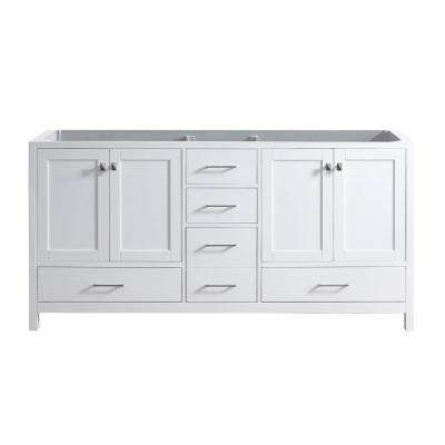 Caroline Madison 72 in. W Bath Vanity Cabinet Only in White