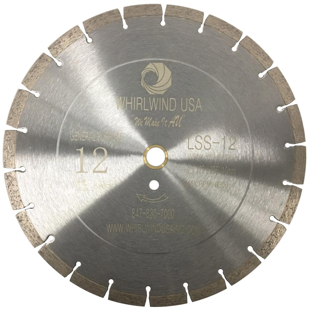 Whirlwind usa 12 in 20 teeth segmented diamond blade for dry or wet 20 teeth segmented diamond blade for dry or wet cutting greentooth Images